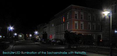 BeckLite LED Illumination of the Sachsenstraße with Retrofits